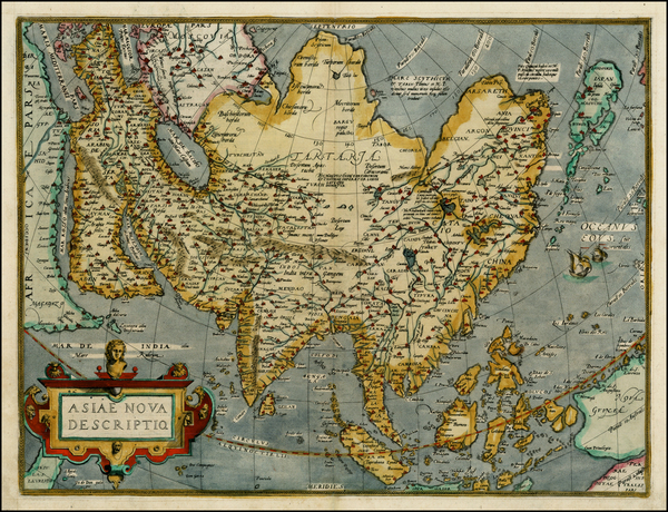 42-Asia, Asia, Australia & Oceania and Oceania Map By Abraham Ortelius