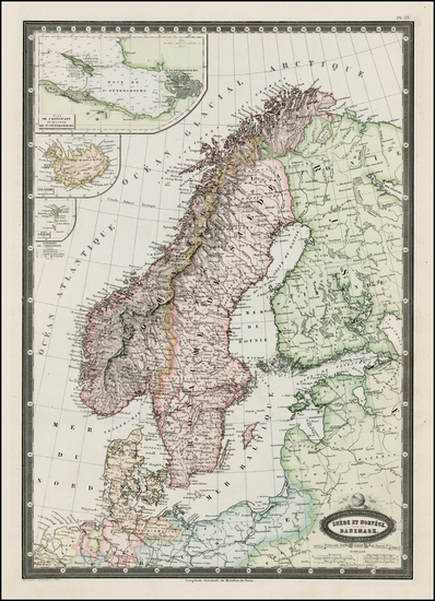 99-Scandinavia Map By F.A. Garnier