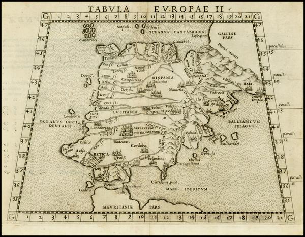 34-Spain Map By Girolamo Ruscelli