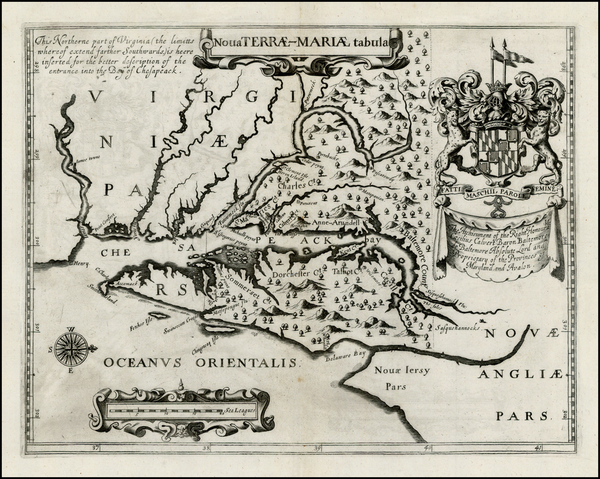 38-Mid-Atlantic and Maryland Map By John Ogilby