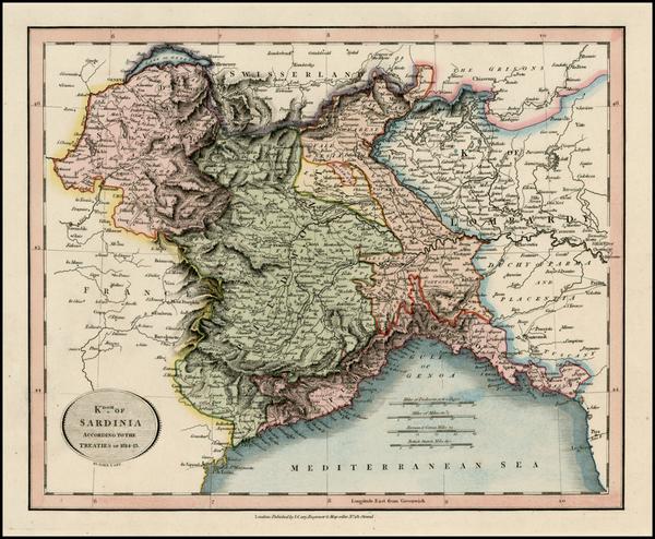 19-Italy Map By John Cary