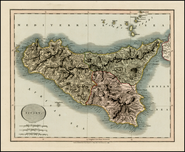 96-Italy and Balearic Islands Map By John Cary