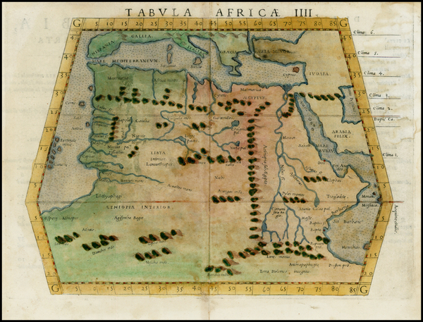 96-Africa, North Africa, East Africa and West Africa Map By Girolamo Ruscelli