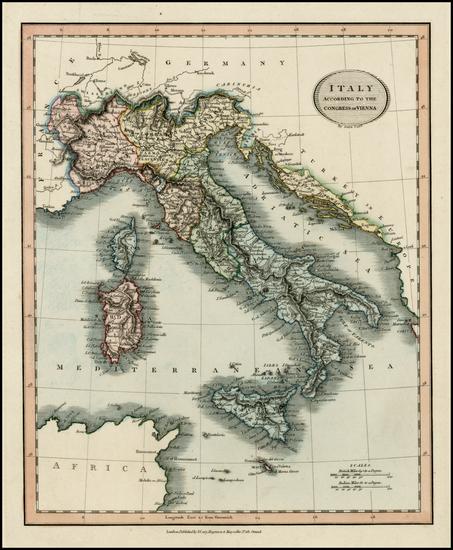 89-Italy Map By John Cary