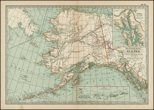 47-Alaska Map By The Century Company