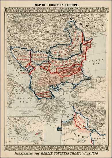 1-Austria, Ukraine, Romania, Balkans, Greece and Turkey Map By Samuel Augustus Mitchell Jr.