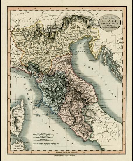 52-Italy Map By John Cary