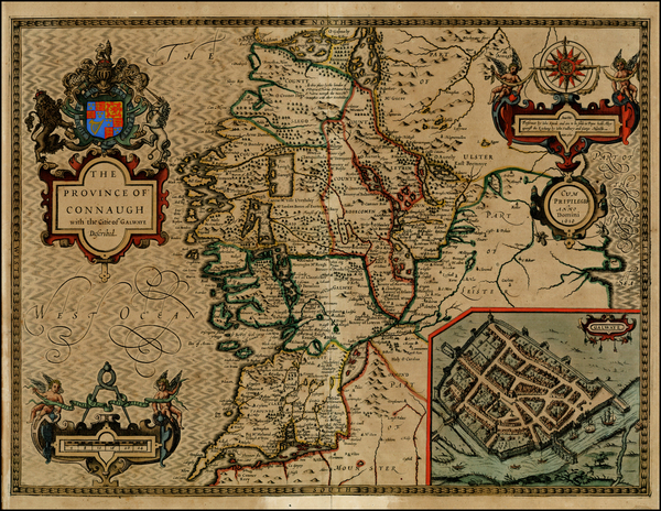 59-Ireland Map By John Speed