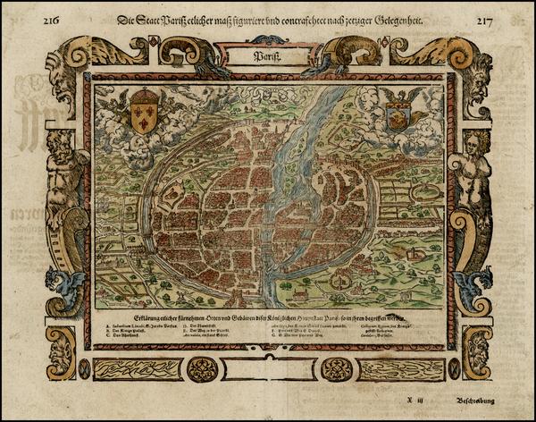 48-France Map By Sebastian Munster