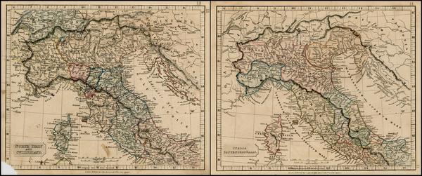 86-Italy and Balearic Islands Map By John Arrowsmith