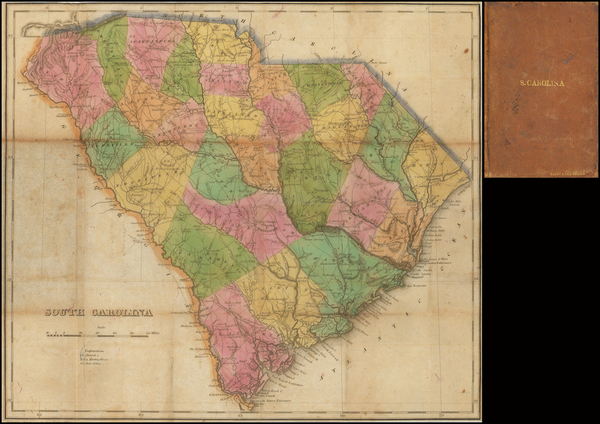 24-South Carolina Map By Henry Charles Carey  &  Isaac Lea