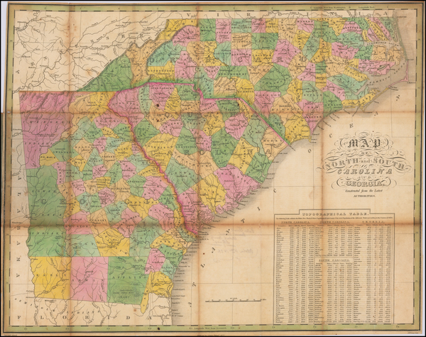 Southeast, Georgia, North Carolina and South Carolina Map By Anthony Finley