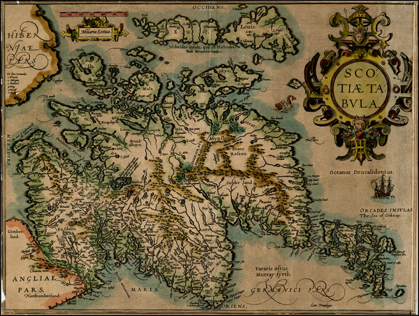 37-Scotland Map By Abraham Ortelius