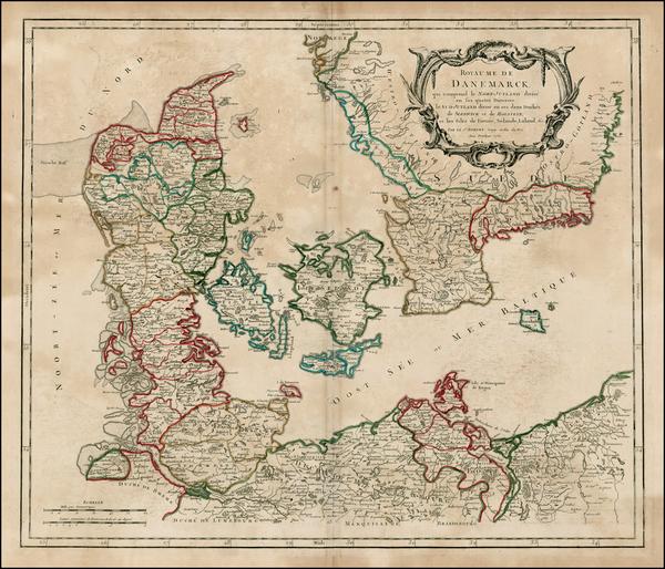 49-Scandinavia Map By Gilles Robert de Vaugondy