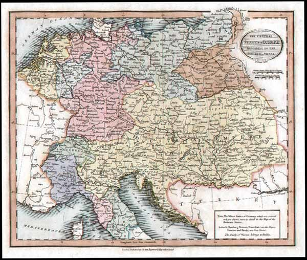 27-Europe, Europe, Germany, Austria and Baltic Countries Map By John Cary