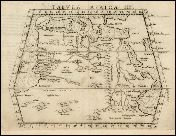 13-North Africa, East Africa and West Africa Map By Girolamo Ruscelli