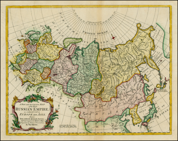 28-Alaska, Russia, China and Russia in Asia Map By Thomas Kitchin