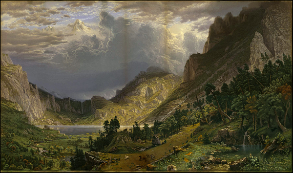 2-Colorado, Rocky Mountains and Colorado Map By Albert Bierstadt