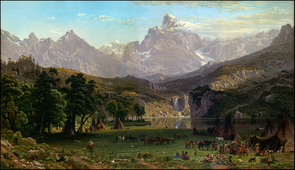 4-Rocky Mountains and Wyoming Map By Albert Bierstadt