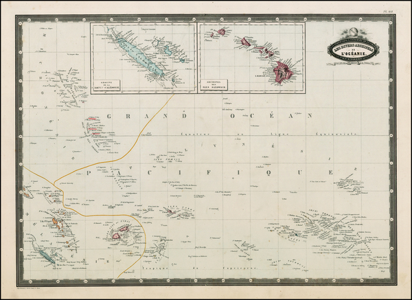 70-Hawaii, Australia & Oceania, Oceania, Hawaii and Other Pacific Islands Map By F.A. Garnier