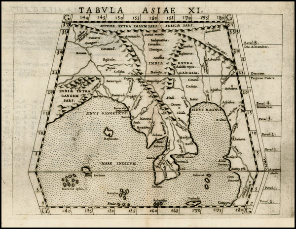 62-India and Southeast Asia Map By Girolamo Ruscelli