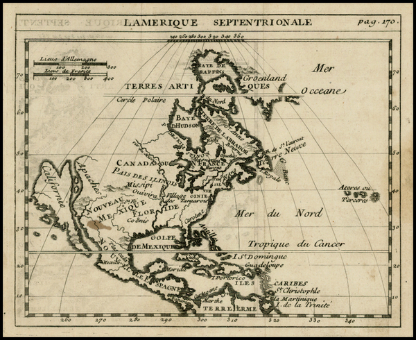 40-North America and California Map By Anonymous