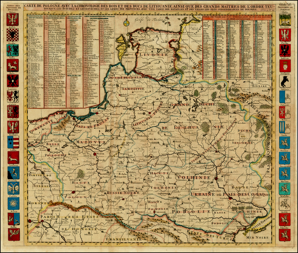 47-Poland, Ukraine and Baltic Countries Map By Henri Chatelain