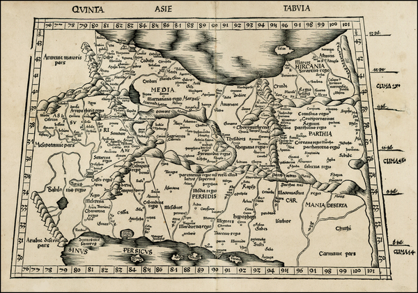 27-Central Asia & Caucasus and Middle East Map By Martin Waldseemüller