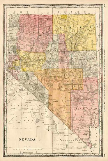 14-California Map By William Rand  &  Andrew McNally