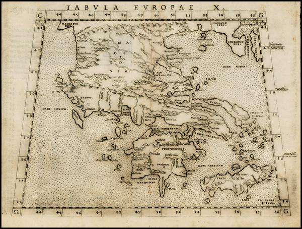 30-Greece and Balearic Islands Map By Girolamo Ruscelli