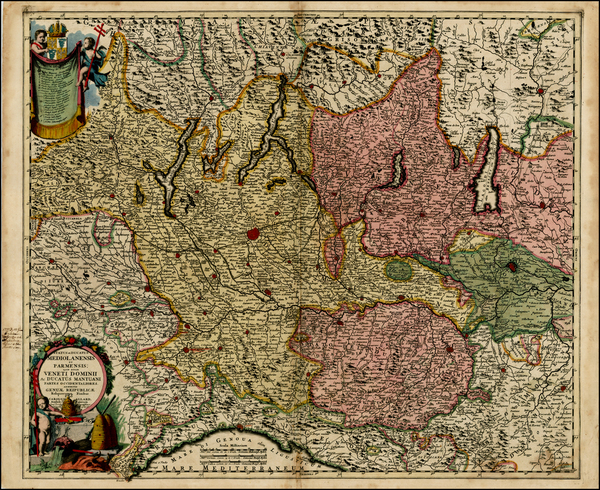 35-Italy Map By Carel Allard