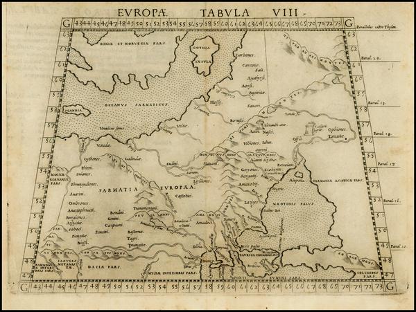 12-Russia, Baltic Countries and Scandinavia Map By Girolamo Ruscelli