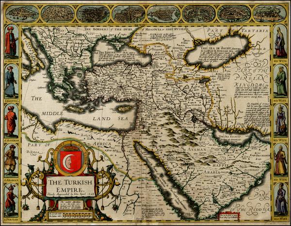90-Russia, Ukraine, Turkey, Mediterranean, Middle East and Turkey & Asia Minor Map By John Spe