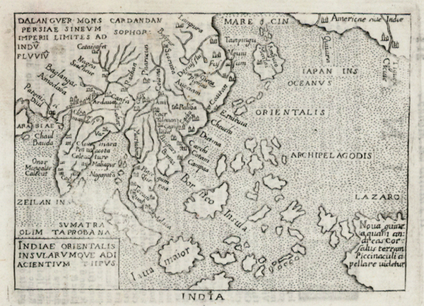 93-Alaska, China, Japan, Southeast Asia and Australia Map By Abraham Ortelius