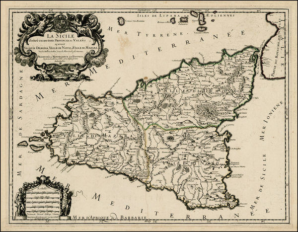 77-Italy and Balearic Islands Map By Alexis-Hubert Jaillot
