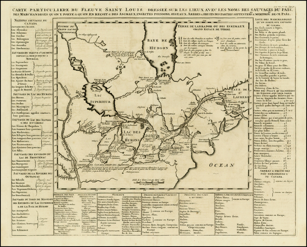35-Midwest, Plains and Canada Map By Henri Chatelain