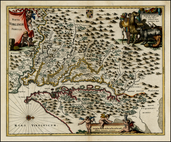 65-Mid-Atlantic and Southeast Map By John Ogilby