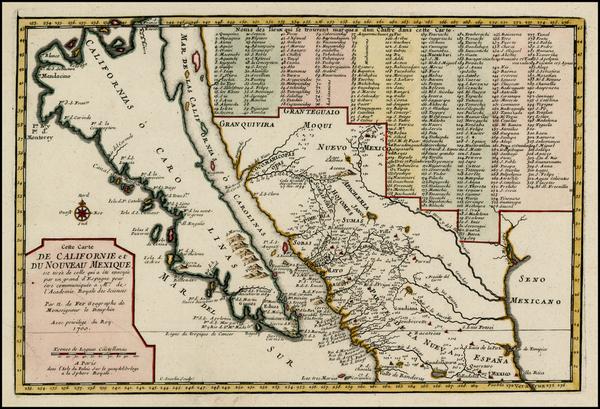 18-Baja California and California Map By Nicolas de Fer