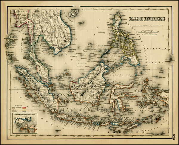 10-Southeast Asia and Other Pacific Islands Map By G.W.  & C.B. Colton