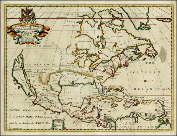 55-North America and California Map By Edward Wells