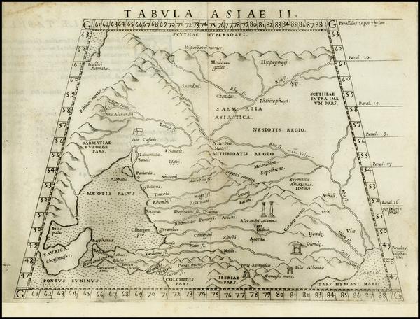 5-Europe, Russia, Asia and Russia in Asia Map By Girolamo Ruscelli