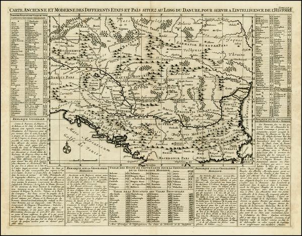 96-Ukraine, Hungary and Balkans Map By Henri Chatelain