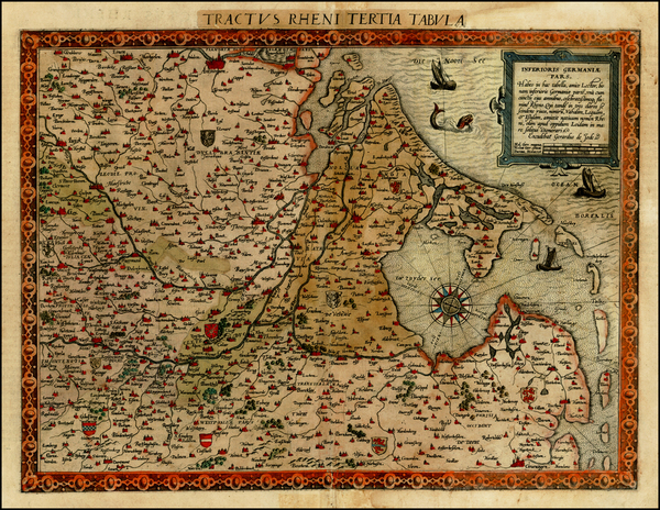 96-Netherlands, Luxembourg and Germany Map By Cornelis de Jode