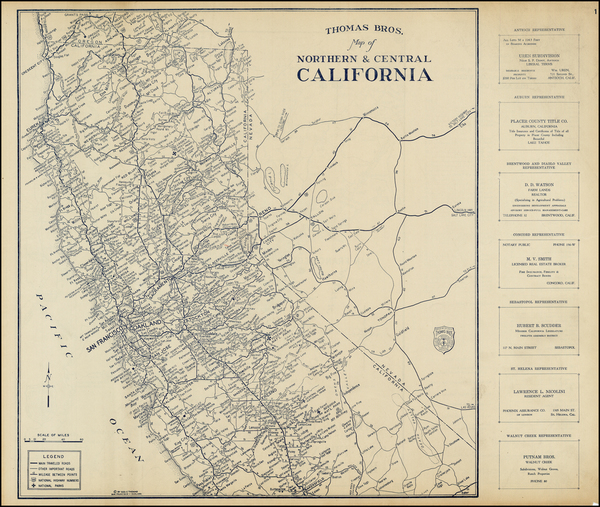 64-California Map By Thomas Brothers