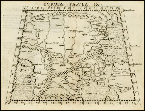 29-Balkans, Greece and Turkey Map By Girolamo Ruscelli