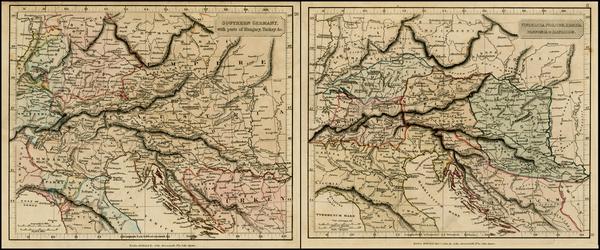99-Germany, Hungary, Romania, Czech Republic & Slovakia, Balkans, Greece and Turkey Map By Joh
