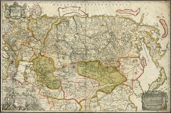 64-Russia, Ukraine, China, Japan, Korea, India, Central Asia & Caucasus and Russia in Asia Map