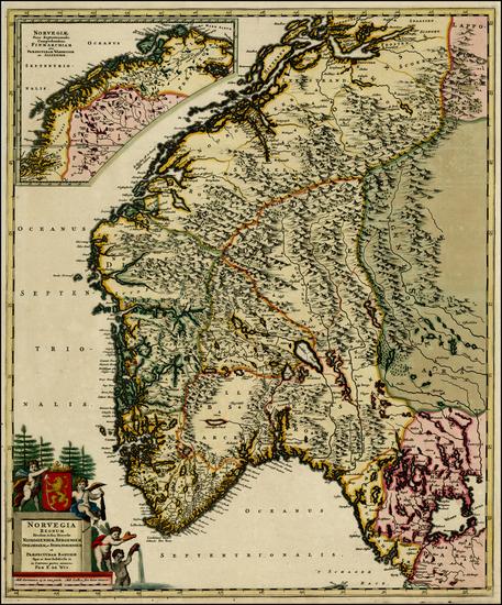 20-Scandinavia Map By Frederick De Wit