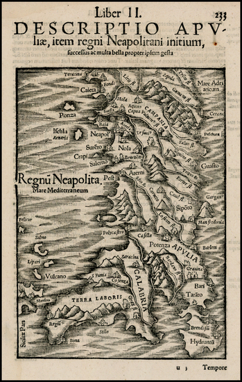 55-Italy Map By Sebastian Munster