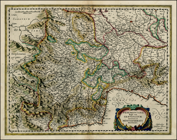 74-Northern Italy Map By Willem Janszoon Blaeu